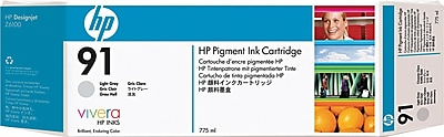 HP 91 Light Gray Ink Cartridge (C9466A), 775ml