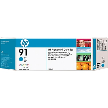 HP 91 Cyan Ink Cartridge (C9467A), 775ml