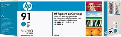 HP 91 Cyan Ink Cartridge (C9467A), 775ml