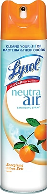 Lysol® Neutra Air® Aerosol Sanitizing RTU Spray, Citrus Scent, 10 Oz.