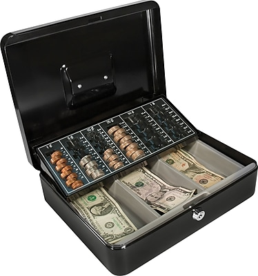 Barska Cash Box with Coin Tray and