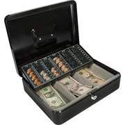 Barska Cash Box with Coin Tray and Key Lock by