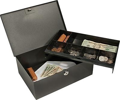 Barska® Cash Box with Six Compartment Tray and Key Lock