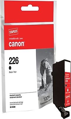 Staples® Remanufactured Inkjet Cartridge, Canon CLI-226 (4546B001), Black