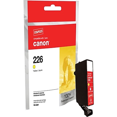 Staples Remanufactured Yellow Ink Cartridge, Canon CLI-226Y (SIC-RCLI226Y)