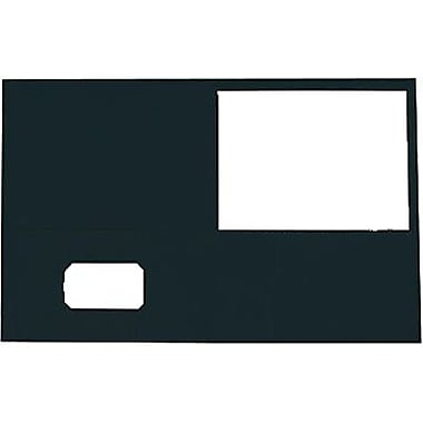 Staples® Twin-Pocket Portfolio, Black, 10/Pack