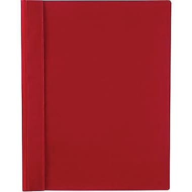 Staples® 3-Tang Clear-Front Report Cover, Red, 10/Pack