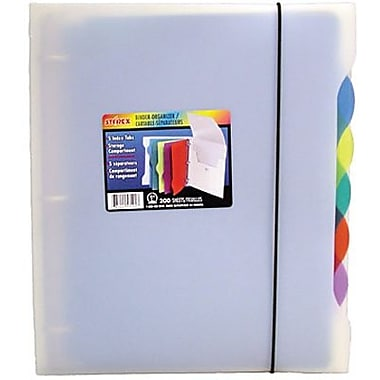 Storex Poly Organizer Binder with 5 Index Tabs, 1