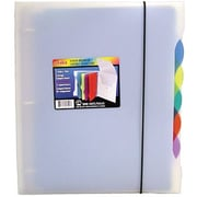 "Storex Poly Organizer Binder with 5 Index Tabs, 1"", 5 Multicoloured Tabs"