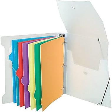 Storex Poly Organizer Binder with 8 Index Tabs, 1½