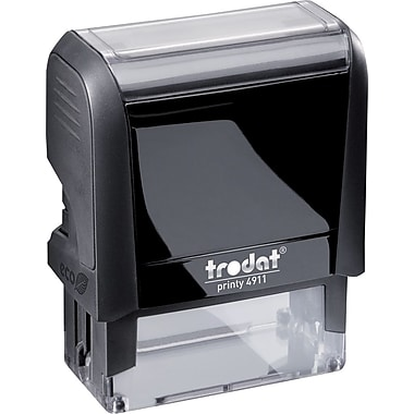 Trodat® 4913 DIY Climate-Neutral Self-Inking Stamp, 5-Line, 7/8
