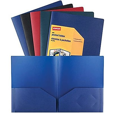 Staples® Twin-Pocket Poly Portfolios