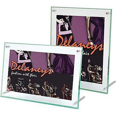 Deflecto® – Support pour affiche, bord biseauté, 4 po x 6 po