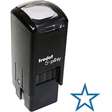 Trodat® S-Printy 4921 Self-Inking Mini Stamp, Star Impression, Blue Ink
