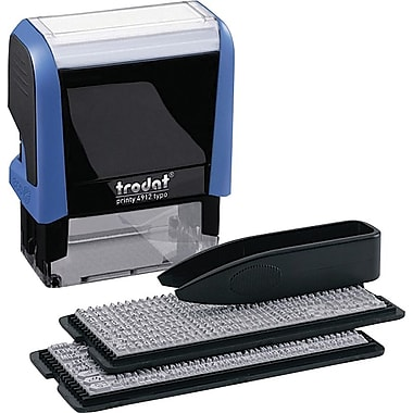 Trodat® Do-It-Yourself Printy 4912 Climate-Neutral Self-Inking Stamping Kit, 4-Line