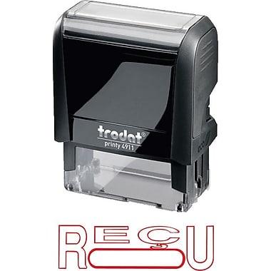 Trodat® Printy 4911 Climate Neutral Self-Inking Stamp - RÉCU, with Window