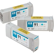 HP (C9483A) Cyan Ink Cartridges, 775ml, 3/Pack