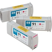 HP 91 Magenta Ink Cartridges (C9484A), 775ml, 3/Pack