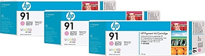 HP (C9487A) Light Magenta Ink Cartridge, 3/pack