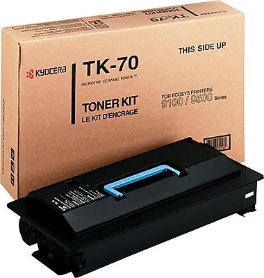 Kyocera TK70 Toner, 40000 Page-Yield, Black