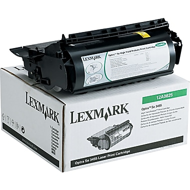 Lexmark Optra Se 3455 Black Toner Cartridge (12A0825), High Yield Return Program