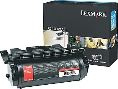 Lexmark X642/644 Black Toner Cartridge (X644H21A), High Yield