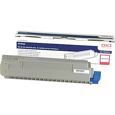 Okidata Magenta Toner Cartridge (44059214), High Yield