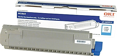 Okidata Cyan Toner Cartridge (44059215), High Yield