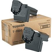 Toshiba T1600 Black Standard Yield Toner Cartridge, 2/Pack