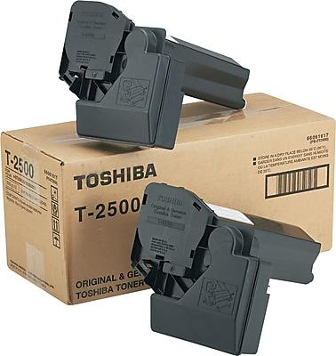 Toshiba (T2500) Black Toner Cartridge, 7,500 Page-Yield, 2/carton