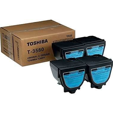 Toshiba Black Toner Cartridge (T-3580), 4/Pack