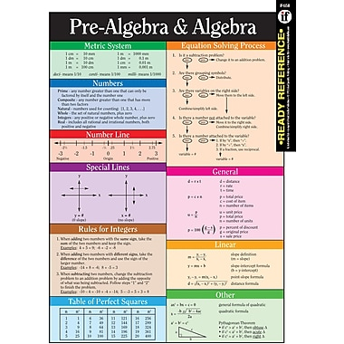 Instructional Fair Pre-Algebra and Algebra Learning Cards
