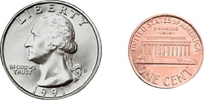 Carson-Dellosa Money, U.S. Coins Shape Stickers