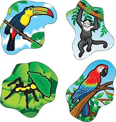 Carson-Dellosa Rainforest Animals Shape Stickers