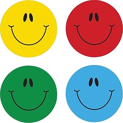 Carson-Dellosa Smiley Face Stickers, Assorted, 120/Pack