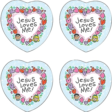 Carson-Dellosa Jesus Loves Me Shape Stickers