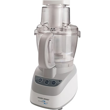 Black & Decker® PowerPro Wide-Mouth 10-Cup Food Processor, White
