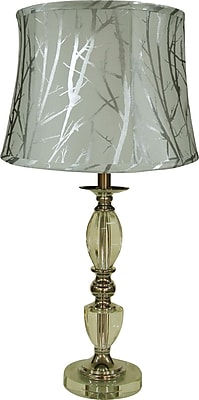 Fangio Crystal Table Lamp w/ Acetate Tree Branch Bell Shaped Drum Shade