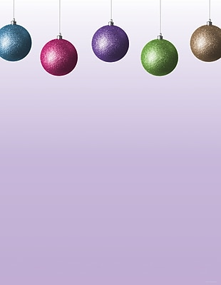 Great Papers Holiday Stationery Glitzy Bulbs , 80/Count 958177