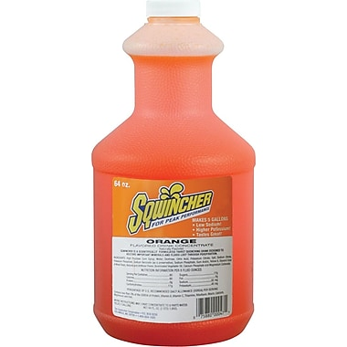 Sqwincher® 5 gal Yield Liquid Concentrate Energy Drink, 64 oz Bottle, Orange