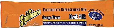 Sqwincher® Lite 20 oz Yield Powder Sugar Free Energy Drink, 0.11 oz Stik, Orange