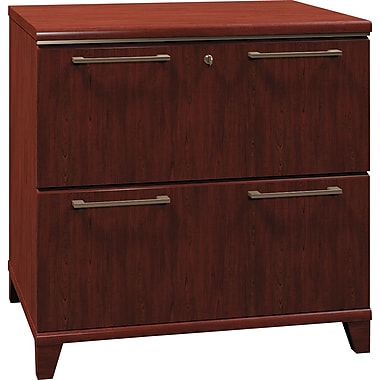 Bush Business Enterprise 30W 2-Drawer Lateral File, Harvest Cherry
