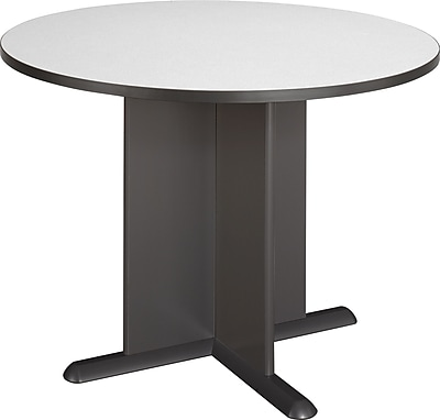 Bush Business Westfield 42W Round Conference Table, Slate/Graphite Gray