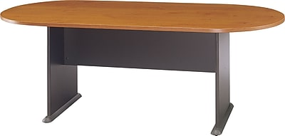 Bush Business Westfield 82W x 35D Racetrack Conference Table, Natural Cherry/Graphite Gray