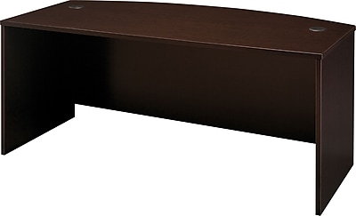 Bush Business Furniture Westfield 72W x 36D Bow Front Desk, Mocha Cherry (WC12946)