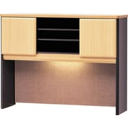 Bush Business Cubix 48W Hutch, Euro Beech/Slate