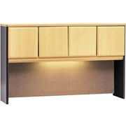 Bush Business Cubix 60W Hutch, Euro Beech/Slate