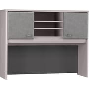 Bush Business Cubix 48W Hutch, Pewter/White Spectrum