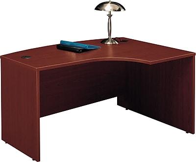 Bush Business Westfield 60W x 43D Right Hand L-Bow Desk Shell, Cherry Mahogany