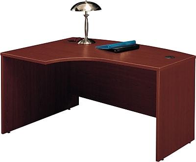 Bush Business Furniture Westfield 60W x 43D Left Handed L Bow Desk, Mahogany (WC36733)